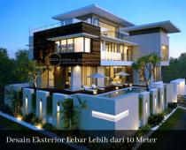 desain eksterior lebar lebih dari 10 meter
