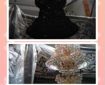 Cuci Lampu Hias / Service Lampu Kristal